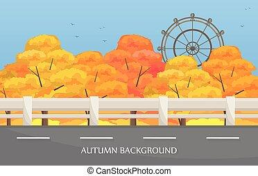 Carretera de otoño vector de fondo
