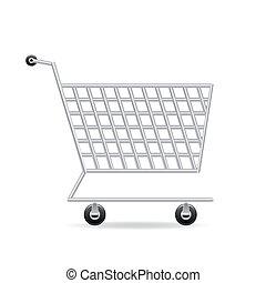 carrito, icono, compras