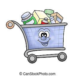 carro de compras, happy.