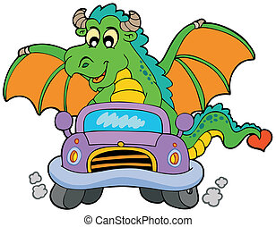 Carro de dragón de cartón