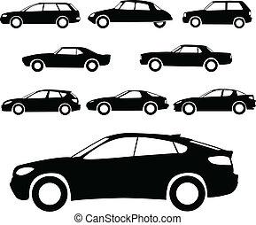 Carros siluetas