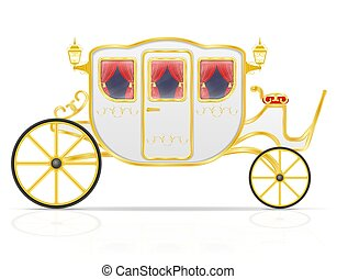 Carruaje real para transporte de gente vector de ilustración