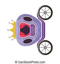carruaje, violeta, blanco, fairytale, real, plano de fondo