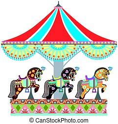 Carrusel de caballos de la rotonda