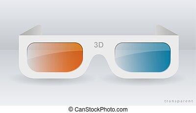 cartón, anteojos de 3d