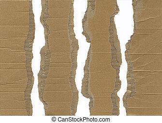 Cartón corrugado de torsión