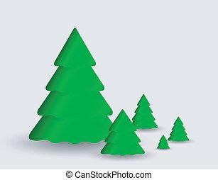 Carta con árbol de Navidad