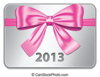 Carta de 2013 con arco rosa