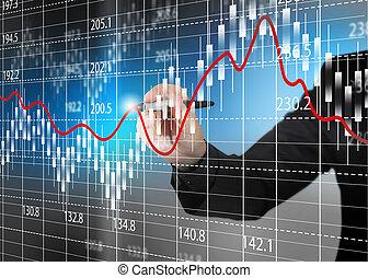 Carta de bolsa, diagrama de análisis de negocios.
