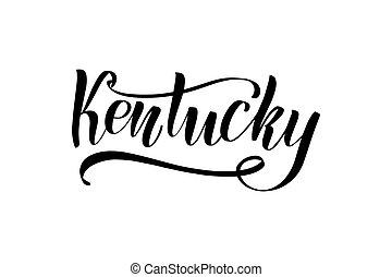 Carta de cepillo de Kentucky