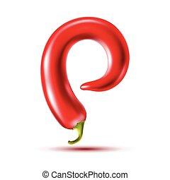 Carta de pimienta roja