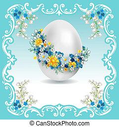 Carta de vintage Easter