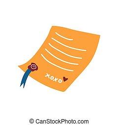 Carta retro con ilustración de vectores de foca roja