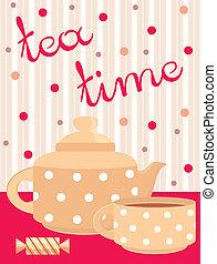 Carta. Servicio de té