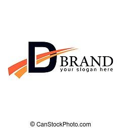 carta, template., d, fondo., logotipo, diseño, design., blanco, swoosh, plano