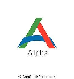 carta, vector, papel, logotipo, colorido, ligado, alfa