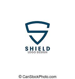 carta, vector, plantilla, protector, logotipo, diseño, s