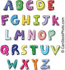 Cartas coloridas escritas