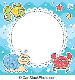 Cartas con criaturas marinas