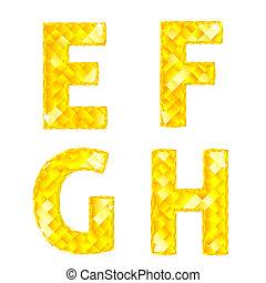 Cartas de diamantes E, F, G, H