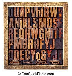 Cartas de letras antiguas