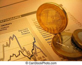 Cartas fianaciales y monedas