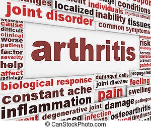cartel, concepto, enfermedad, artritis