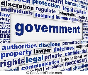cartel, concepto, gobierno