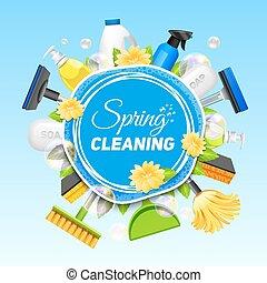 Cartel de limpieza