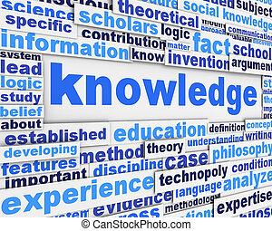 cartel, diseño, conocimiento