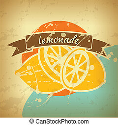 cartel, limonada, retro