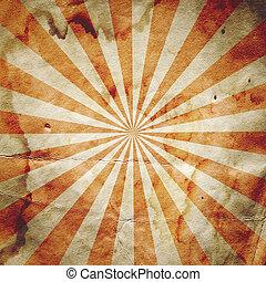 cartel, rayo de sol, resurgimiento retro, plano de fondo
