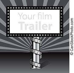 cartelera, película, ilustración, tira