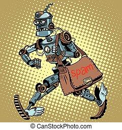 cartero, robot, spam, electrónico, email