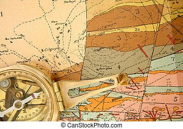 cartografía, geológico