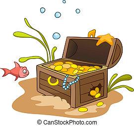 Cartoon bajo el agua
