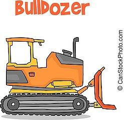 Cartoon Bulldozer stock de recolección de transporte