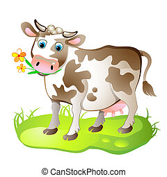 Cartoon caracter de vaca