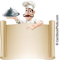 Cartoon Cocinero del menú