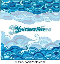 Cartoon fondo marino