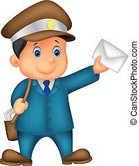 Cartoon Mail con bolso y yo