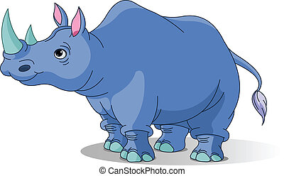 Cartoon rinoceronte