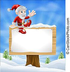 Cartoon Santa Navidad