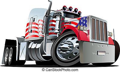 Cartoon semi camión