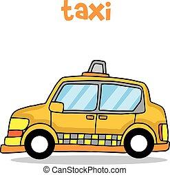 Cartoon taxi vector de transporte arte