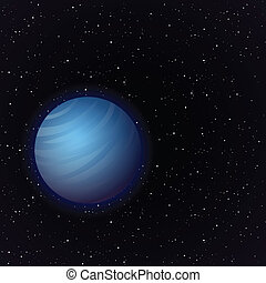 Cartoon Venus en espacio abierto