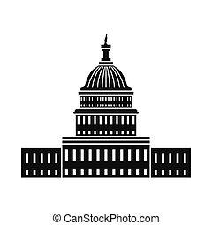 Casa blanca en Washington DC icono