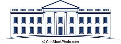 Casa blanca Vector Logo