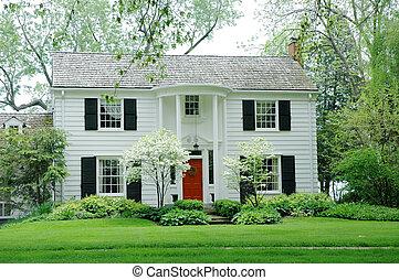 casa, blanco