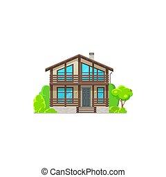 casa casa, exterior, edificio, residencial